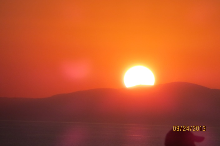 As the Sun sets in Mykonos.....