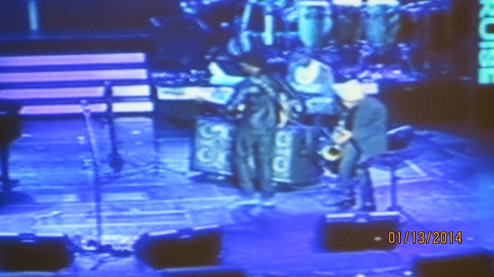 Marcus Miller from my t.v. during the 2nd show