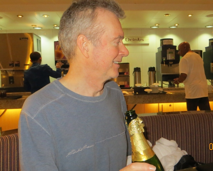 Peter and Champagne