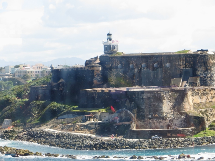 El Morro Fort from the ship