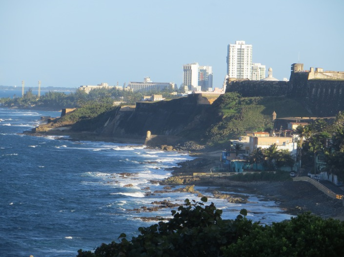 Great view of the Puerto Rican coastline from El Morro Fort