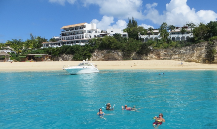 A beautiful beach on St. Martin